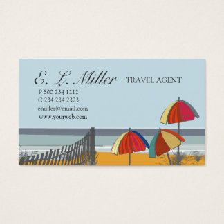 Agent de voyage nautique à la mode de plage cartes de visite