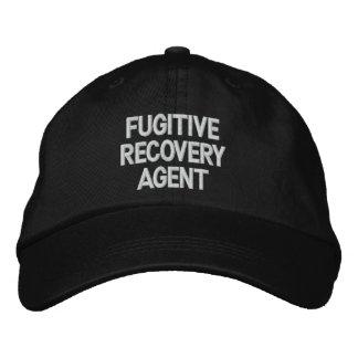 Agent fugitif de récupération casquettes brodées