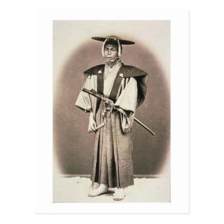 Agent judiciaire ou samouraïs japonais, c.1870s carte postale