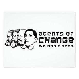 Agents de changement que nous n'avons pas besoin carton d'invitation 10,79 cm x 13,97 cm