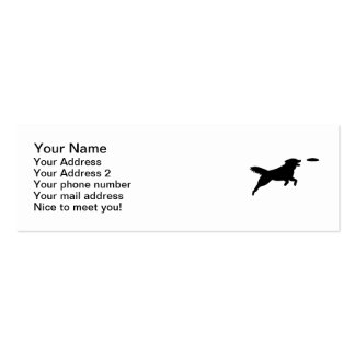 Agilité de chien modèles de cartes de visite