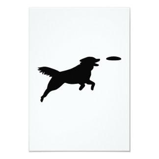Agilité de chien carton d'invitation 8,89 cm x 12,70 cm
