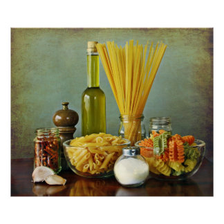 aglio, peperoncino de l'olio e (ail, pétrole et poster