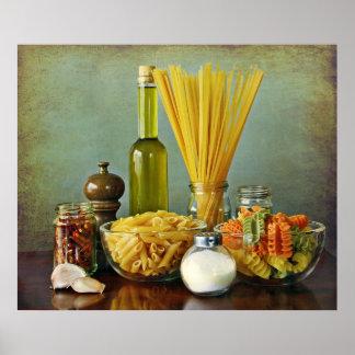 aglio, peperoncino de l'olio e (ail, pétrole et posters