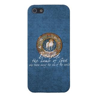 Agneau d'icône chrétienne bizantine de Dieu sur le Coque iPhone 5