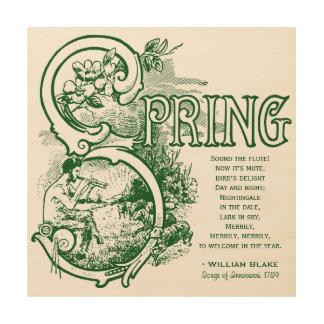 Agneau victorien de satyre d'art de William Blake Impression Sur Bois
