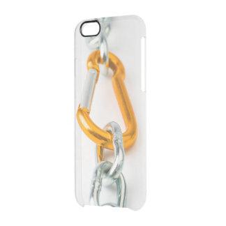 Agrafe à chaînes brillante de couleurs d'or et coque iPhone 6/6S