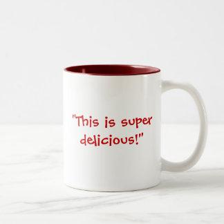 """""""Agrégez"""" contre """"délicieux superbe """" Mug Bicolore"""