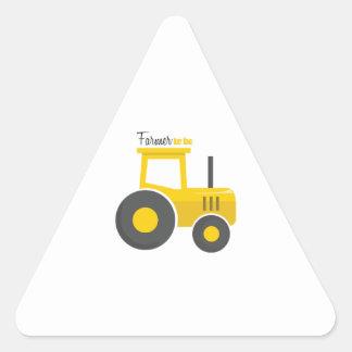 Agriculteur à être sticker triangulaire