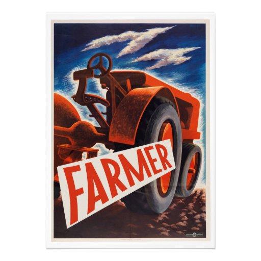 Agriculteur et FIER Bristol Personnalisé