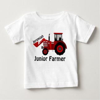 """""""Agriculteur junior"""" personnalisé et tracteur T-shirt Pour Bébé"""