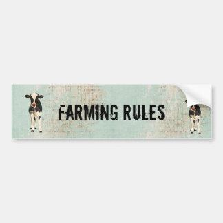 Agriculture de l'adhésif pour pare-chocs de vache  autocollants pour voiture