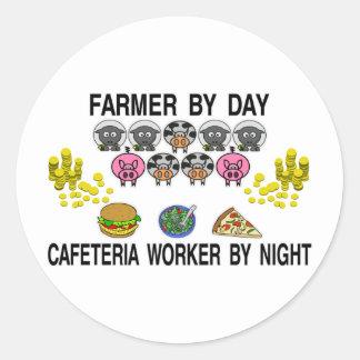 Agriculture de mon café sticker rond