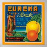 Agrume de la Floride d'Eureka Affiche