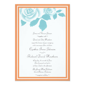 Agrume et invitations tropicales turquoises de