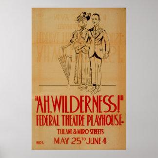 Ah affiche vintage de théâtre de WPA de région Posters