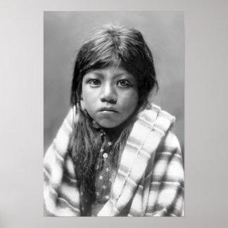 Ah Chee Lo (fille de Natif américain) Affiche