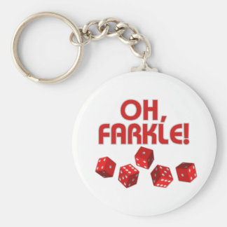 Ah, Farkle ! Porte-clé Rond