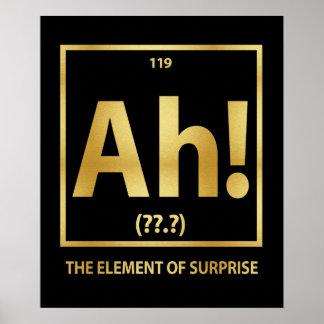 Ah !  L'effet de surprise Posters
