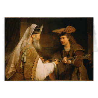 Ahimelech donnant l'épée de Goliath à David Cartes