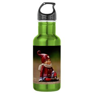 Aide de Père Noël - Noël heureux - gnome Bouteille D'eau En Acier Inoxydable