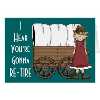 Aide de retraite de cow-girl - humour occidental carte de vœux