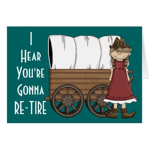 Aide de retraite de cow-girl - humour occidental carte