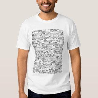 Aide-mémoire d'astronomie (côté droit) t-shirt