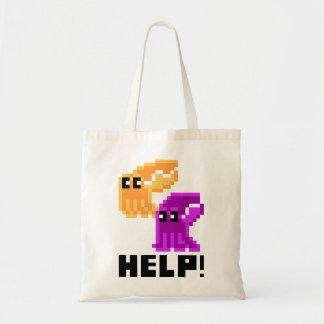 Aide sauver les seiches ! Sac d'épicerie
