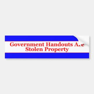 Aides de gouvernement autocollant pour voiture