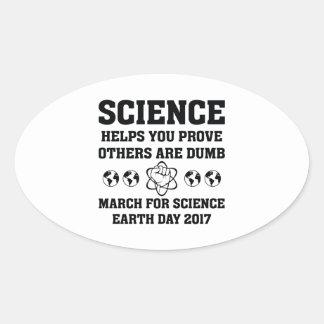 Aides de la Science que vous montrez Sticker Ovale