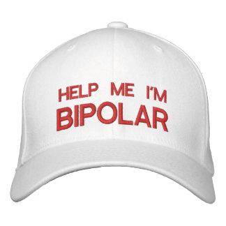 AIDEZ-MOI que je suis BIPOLAIRE - casquette de