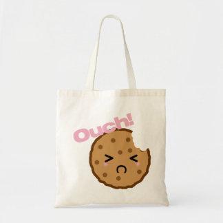 """""""Aïe ! """"dit le biscuit de Kawaii Sac De Toile"""