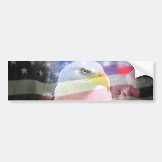 Aigle américain chauve et drapeau des Etats-Unis Autocollant De Voiture