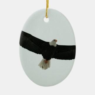 Aigle chauve de glissement ornement ovale en céramique