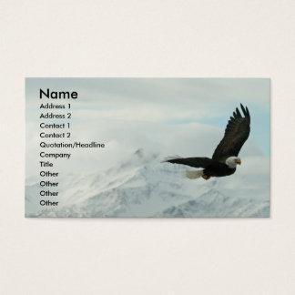 Aigle chauve et montagnes cartes de visite
