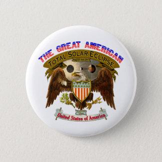Aigle d'Américain de bouton d'éclipse Badges