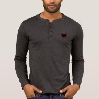 Aigle deux-dirigé albanais t-shirt