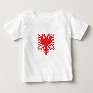 Aigle deux-dirigé albanais t-shirt pour bébé