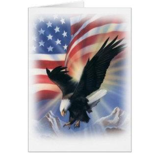 aigle en vol avec le drapeau cartes