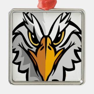 aigle head2 ornement carré argenté