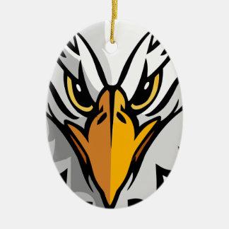 aigle head2 ornement ovale en céramique