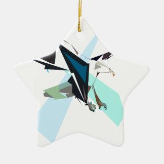 aigle ornement étoile en céramique