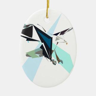 aigle ornement ovale en céramique