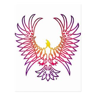 aigle se levant, sunglow carte postale