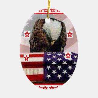AIGLE USA.png Ornement Ovale En Céramique