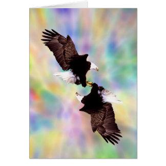 Aigles de danse carte de vœux