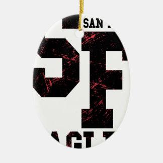 Aigles de San Fran Ornement Ovale En Céramique