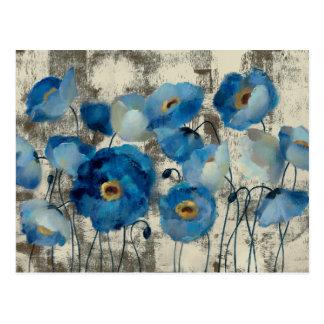 Aigue-marine florale cartes postales
