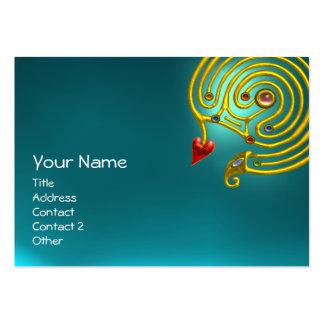 AIGUE-MARINE HYPER de LABYRINTHE bleu jaune rouge Cartes De Visite Professionnelles